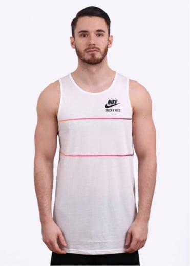 Elongated Tank Top - White / Black