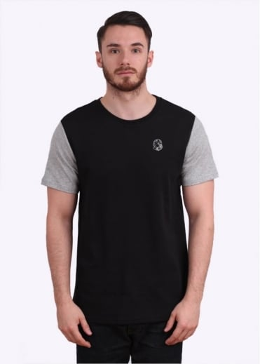 Zinc Short Sleeve Knit Tee - Black / Grey