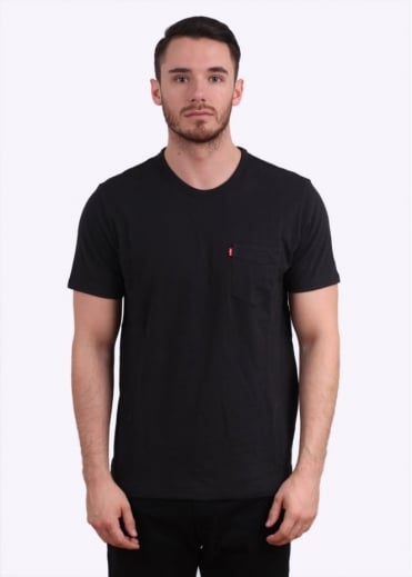 Short Sleeve Sunset Pocket Tee - Jet Black