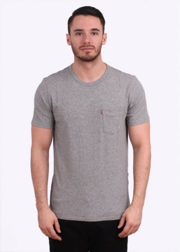 Short Sleeve Sunset Pocket Tee - Medium Grey