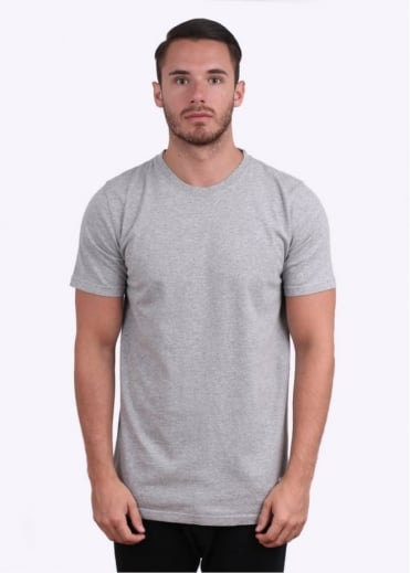 Neils Basic Short Sleeve Tee - Grey Melange