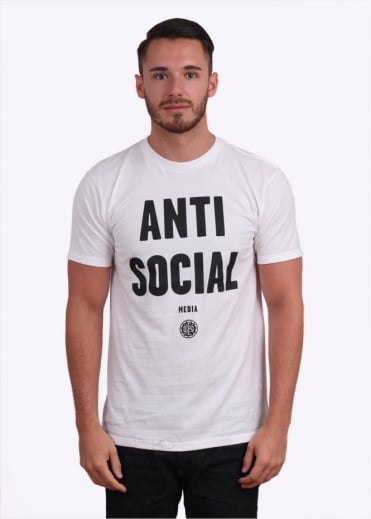 Obey Anti-Social Media Tee - White