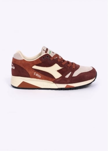 S8000 'Made In Italy' Trainers - Brown / Mushroom