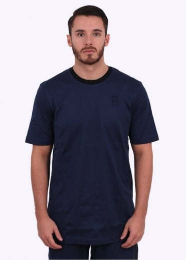 Court Tennis Crew Tee - Navy / Black