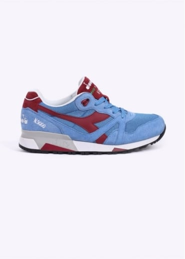 N9000 Italia 'Made in Italy' Trainers - Silver / Lake Blue
