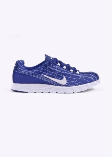 Mayfly Racer Trainers - Racer Blue / White