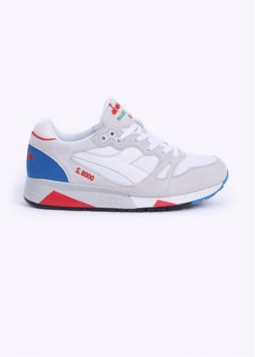 S8000 Nylon 'Made in Italy' Trainers - White / Blue