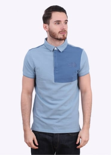 SS Mountain Polo - Faded Denim Blue