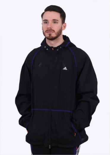 x Kolor Woven Jacket - Black / Purple