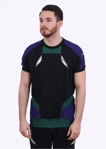 x Kolor SS Hybrid Tee - Purple / Black/ Green