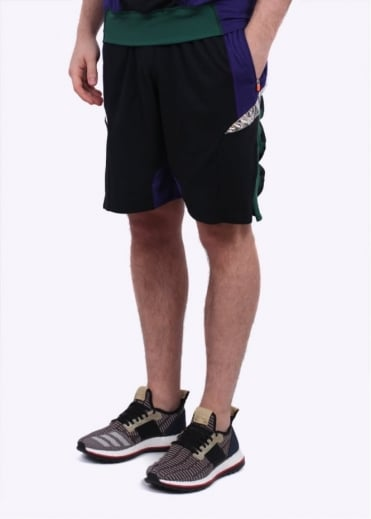 x Kolor Hybrid Shorts - Purple / Black