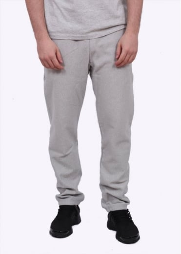 Reverse Weave Elastic Cuff Pants - Light Grey