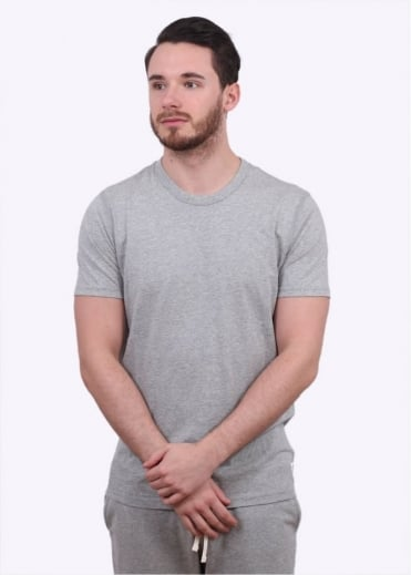 Reigning Champ SS Jersey Crew - Heather Grey