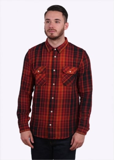 Shorthorn Check Shirt Plaid - Burgundy