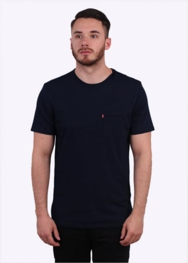 Pocket Tee - Saturated Indigo