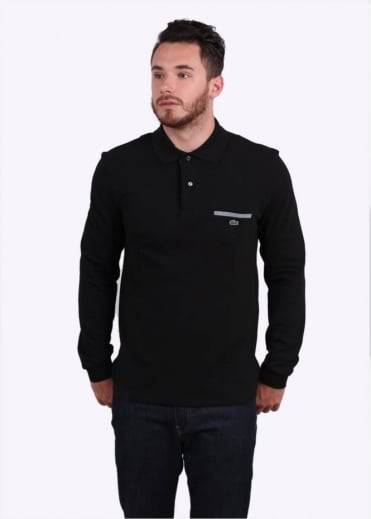 LS Pocket Polo - Black