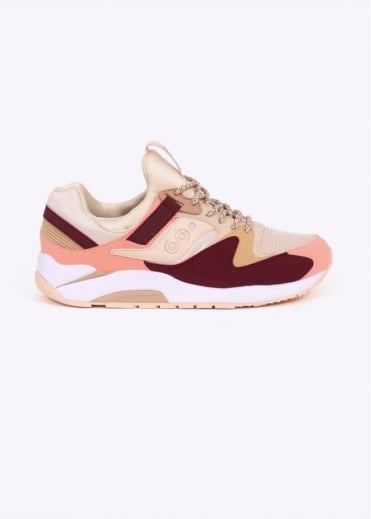 Saucony Grid 9000 - Cream / Red / Pink