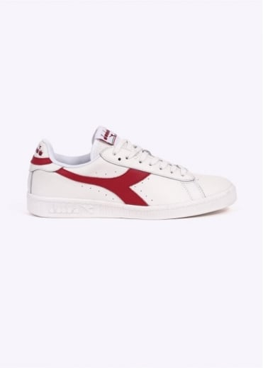 Diadora Game L Low Waxed - White / Chilli Red