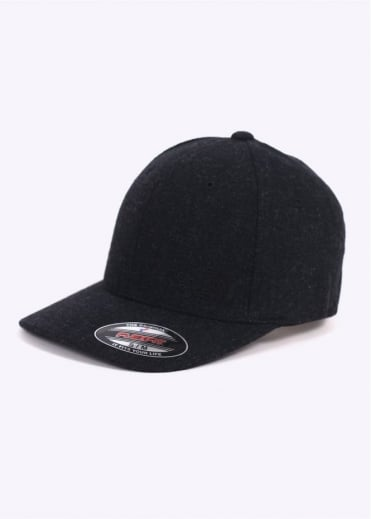 Wool Flexfit Ball Cap - Black