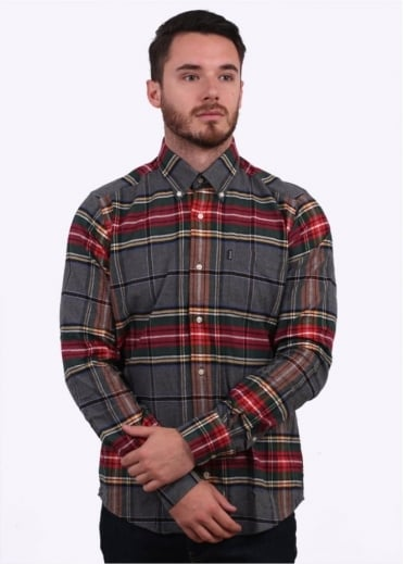 Barbour Castlebay Check Shirt - Grey