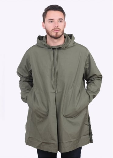 Monitaly Hooded Invert Pullover Jacket - Olive
