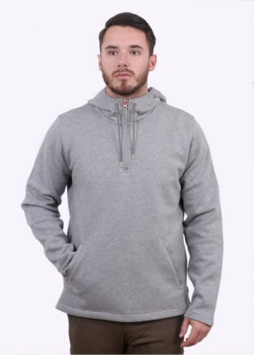 Commuter Half Zip Hoodie - Molleton Heather Grey