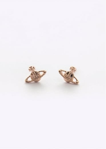 Vivienne Westwood Jewellery Farah Earrings Pink Gold Small
