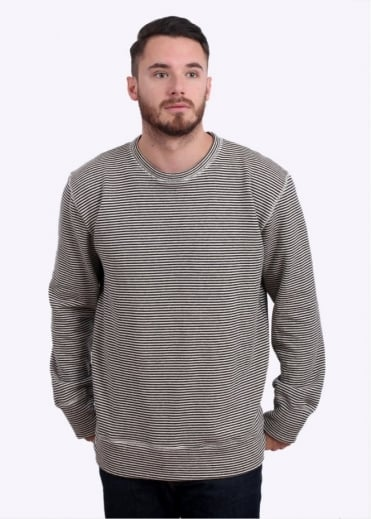 Crewneck Sweatshirt - Black Stripe