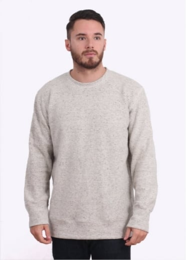 Crewneck Sweatshirt 9.6oz - Black Stripe Sherpa
