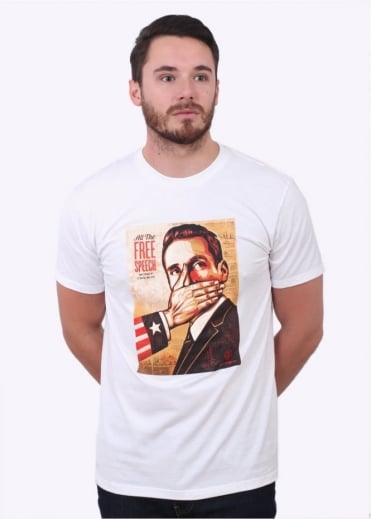 Obey Pay Up Or Shut Up Tee - White