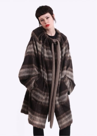 Vivienne Westwood Anglomania Blanket Cape - Brown