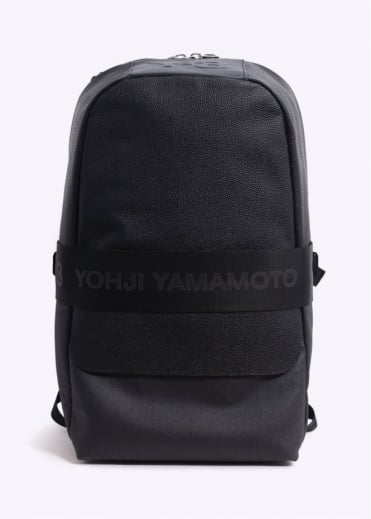 Y3 / Adidas - Yohji Yamamoto Qasa Leather Backpack - Black