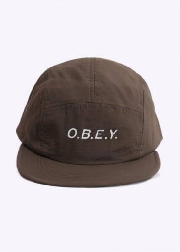 Obey Contorted 5 Panel - Army