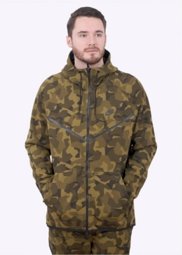 Nike Apparel Tech Fleece Windrunner Hoodie - Olive Flak