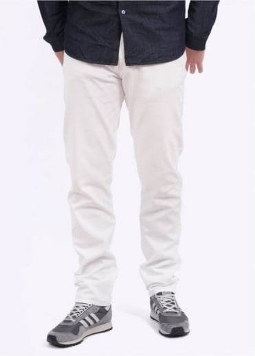 Tapered Fit Trousers - White