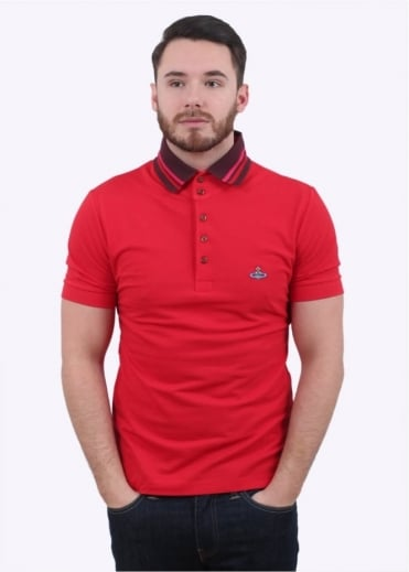 Vivienne Westwood Krall Pique Polo - Red