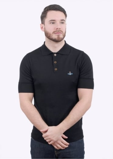 Classic Polo Knit - Black
