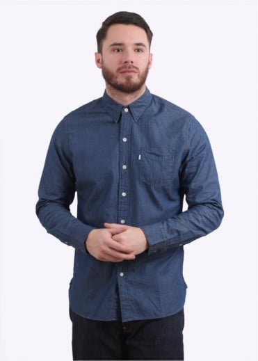 Sunset 1 Pocket Shirt - Blue Indigo