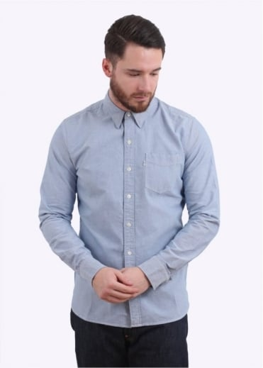 Sunset 1 Pocket Shirt - Blue