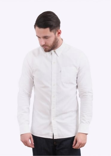 Sunset 1 Pocket Shirt - White