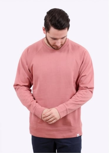 Norse Projects Vorm Mercerised Sweater - Fusion Pink
