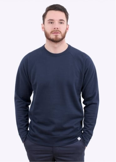 Norse Projects Vorm Mercerised Sweater- Navy
