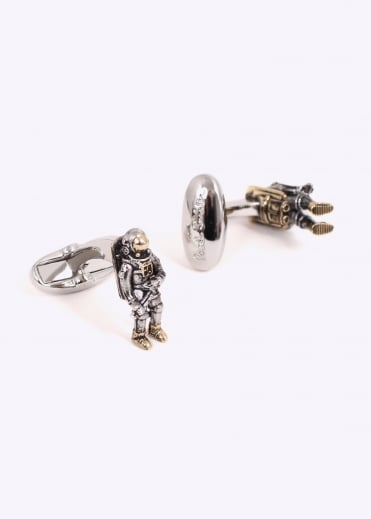 Paul Smith Space Cuff Links - Silver