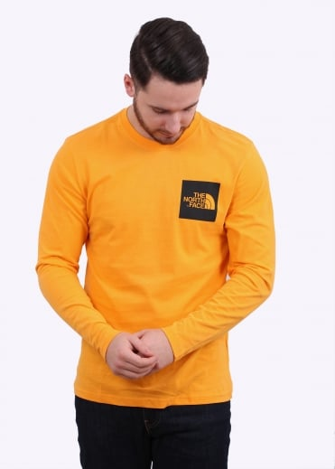 The North Face LS Fine Tee - Zinnia Orange