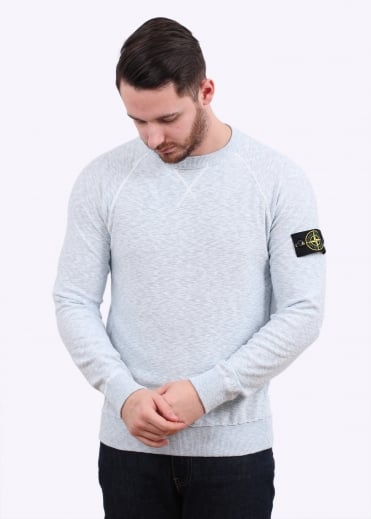 Stone Island Badge Sweater - Sky Blue