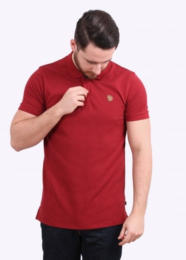 Fjallraven Ovik Polo Shirt - Deep Red