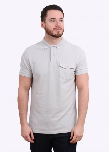 Barbour Longsand Polo - Sea Mist