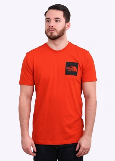 The North Face SS Fine Tee - Tibetan Orange