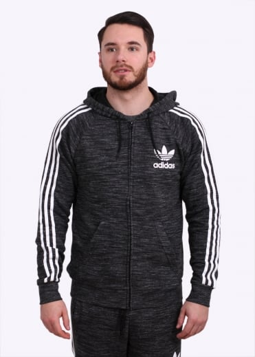 Adidas Originals Apparel CLFN FT Full Zip - Black Heather