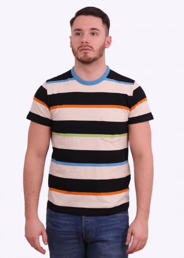 1960s Casual Stripe Tee - Multi Flavour